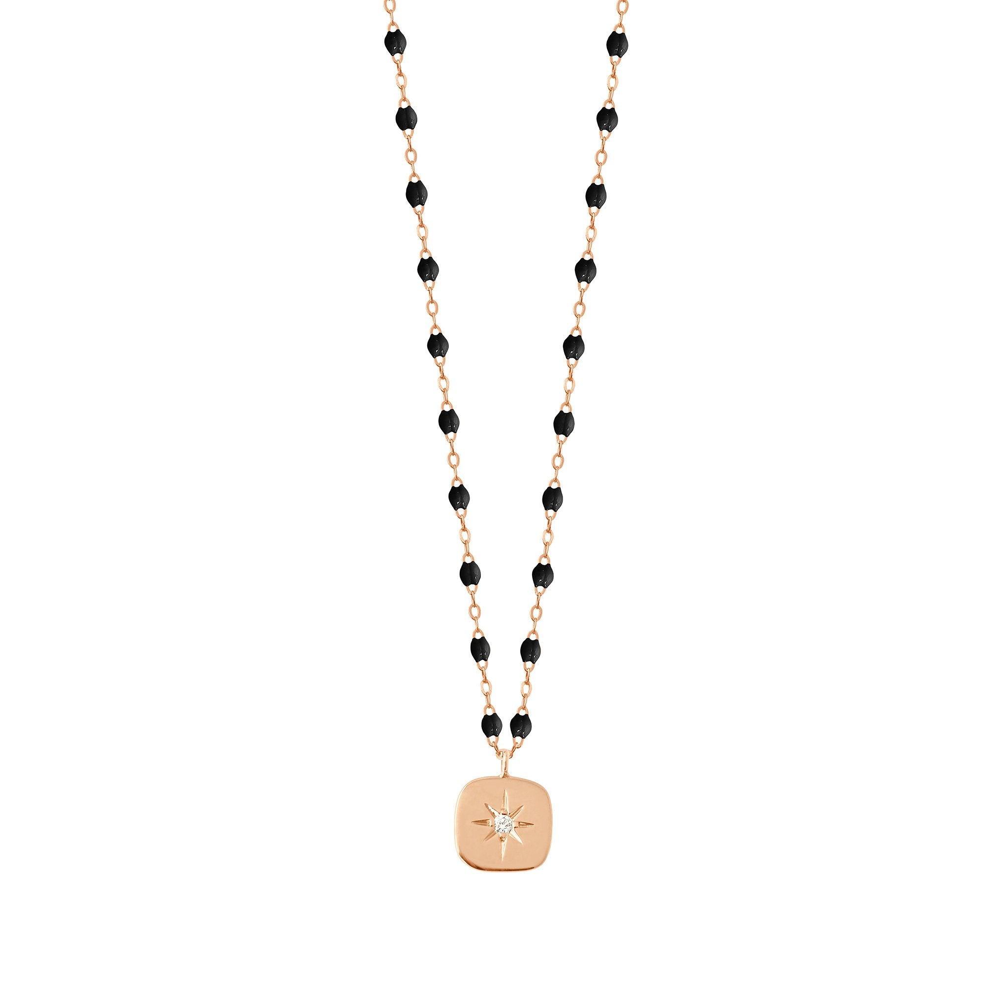 Gigi Clozeau - Miss Gigi Black diamond necklace, Rose Gold, 16.5