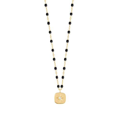 Gigi Clozeau - Miss Gigi Black diamond necklace, Yellow Gold, 16.5