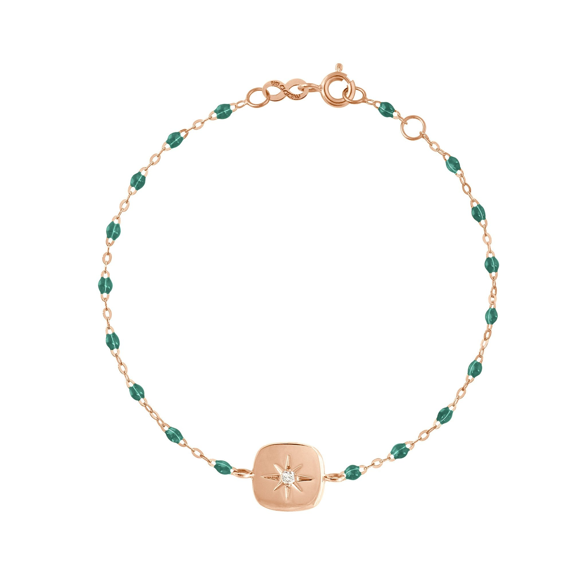 Gigi Clozeau - Miss Gigi Emerald diamond bracelet, Rose Gold, 6.7