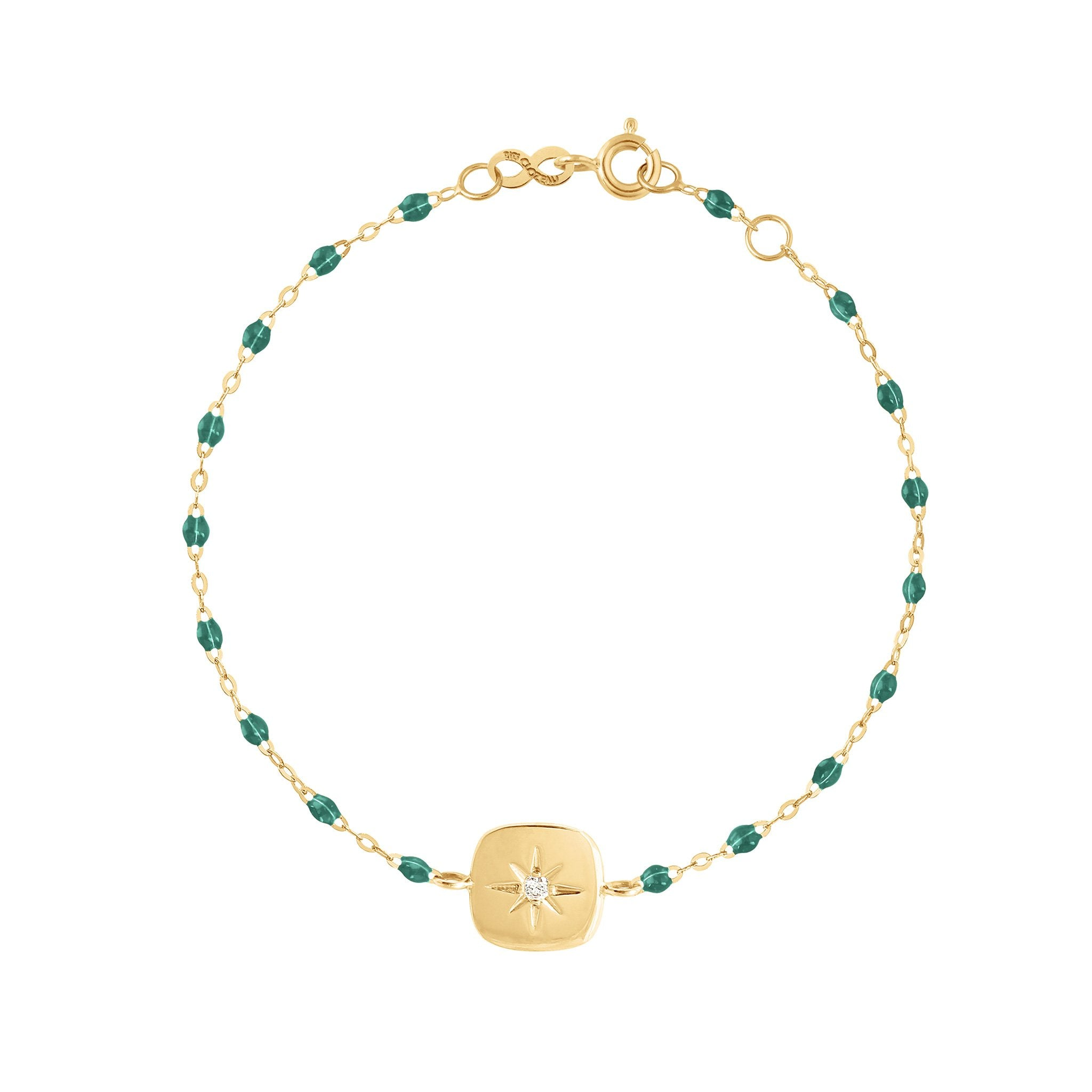 Gigi Clozeau - Miss Gigi Emerald diamond bracelet, Yellow Gold, 6.7""