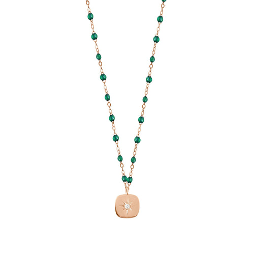 Gigi Clozeau - Miss Gigi Emerald diamond necklace, Rose Gold, 16.5