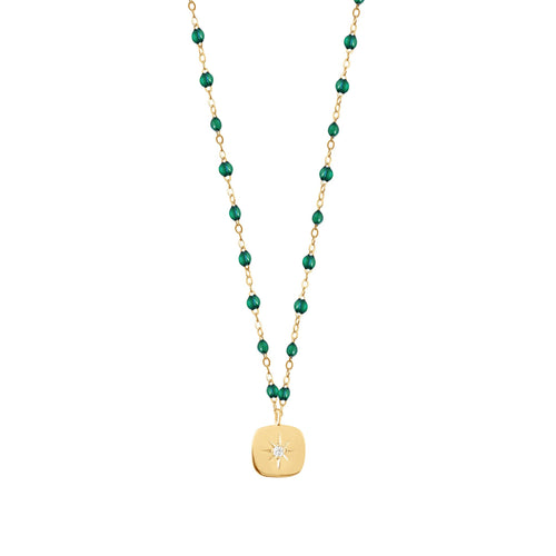 Gigi Clozeau - Miss Gigi Emerald diamond necklace, Yellow Gold, 16.5