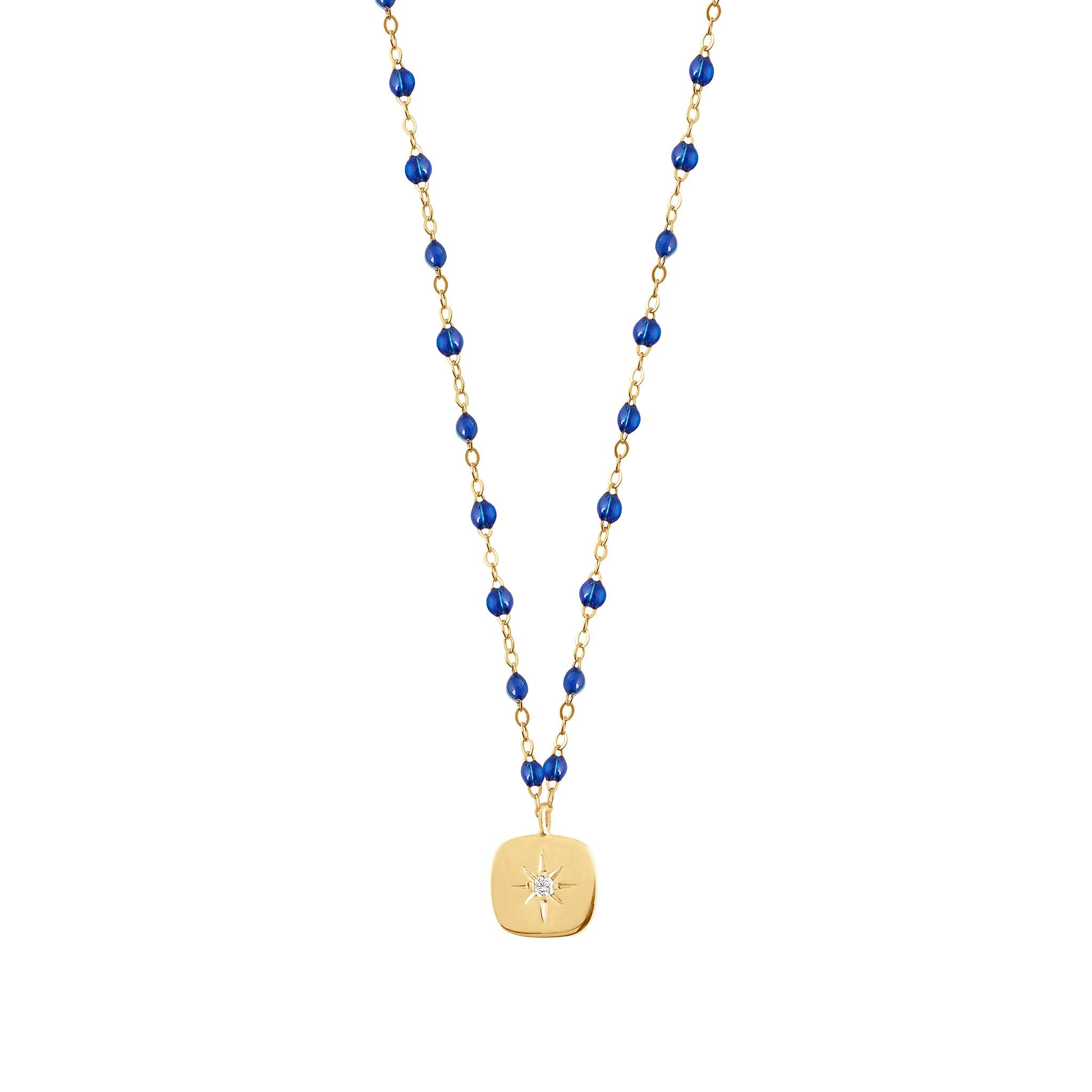 Gigi Clozeau - Miss Gigi Lapis diamond necklace, Yellow Gold, 16.5""