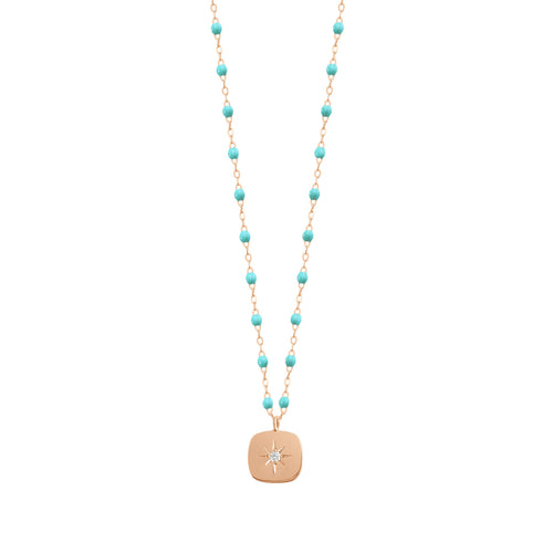 Gigi Clozeau - Miss Gigi Turquoise Green diamond necklace, Rose Gold, 16.5