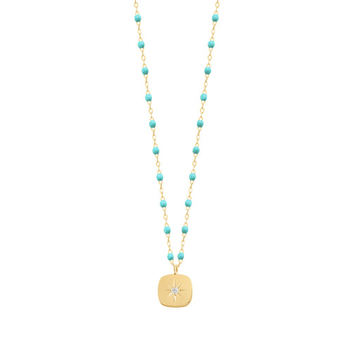 Gigi Clozeau - Miss Gigi Turquoise Green diamond necklace, Yellow Gold, 16.5
