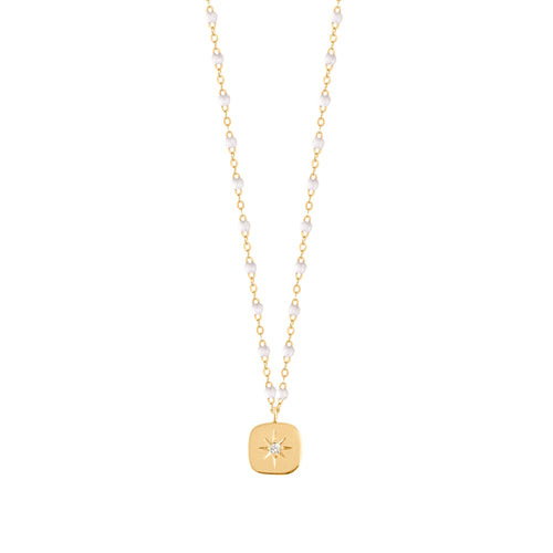 Gigi Clozeau - Miss Gigi White diamond necklace, Yellow Gold, 16.5