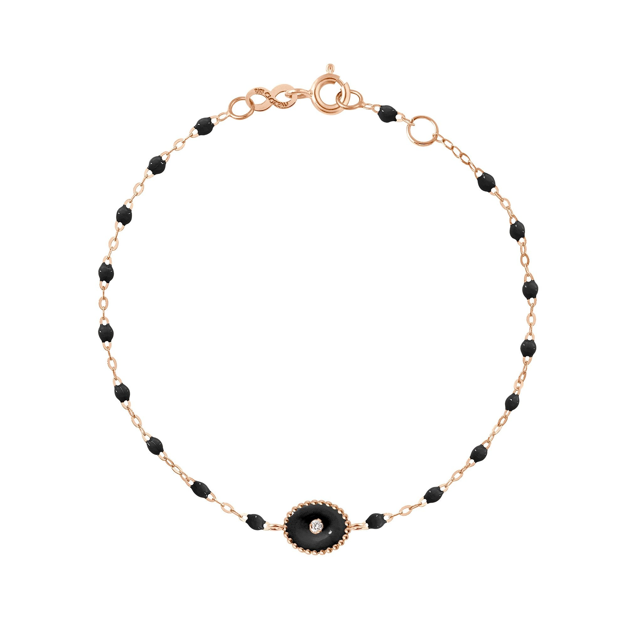 Gigi Clozeau - North Star Classic Gigi Black diamond bracelet, Rose Gold, 6.7""