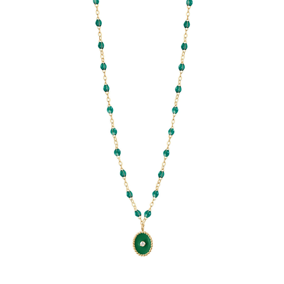 Gigi Clozeau - North Star Classic Gigi Emerald diamonds necklace, Yellow Gold, 16.5