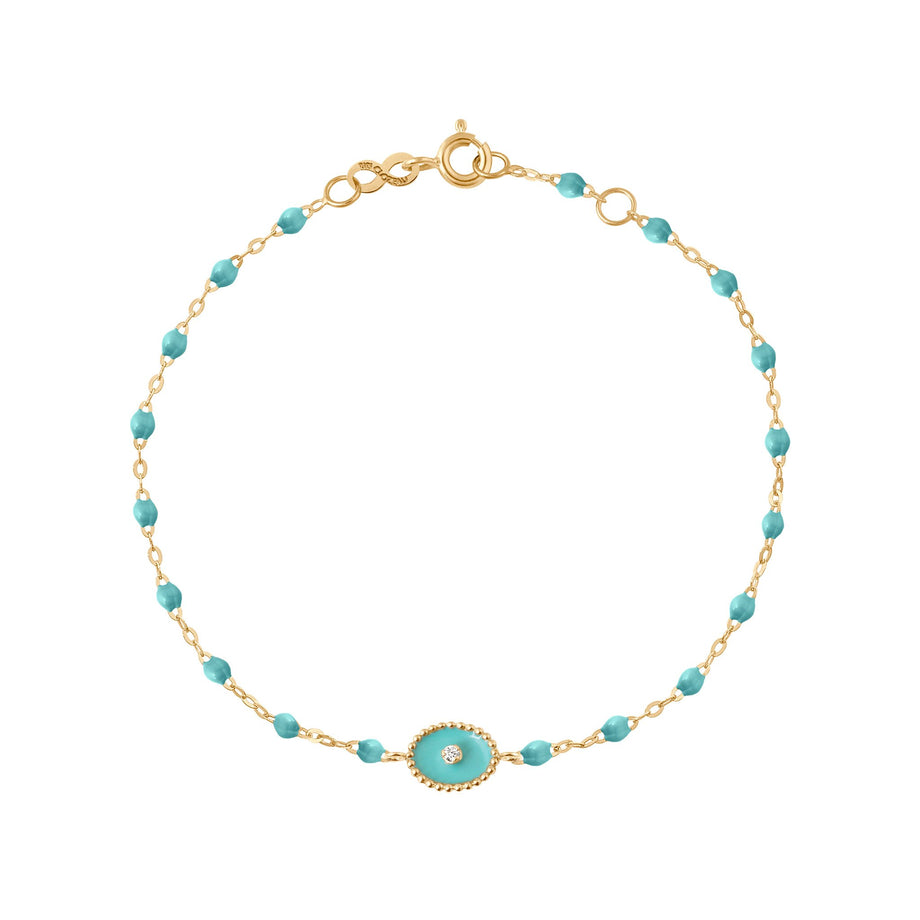 Gigi Clozeau - North Star Classic Gigi Turquoise Green diamonds bracelet, Yellow Gold, 6.7