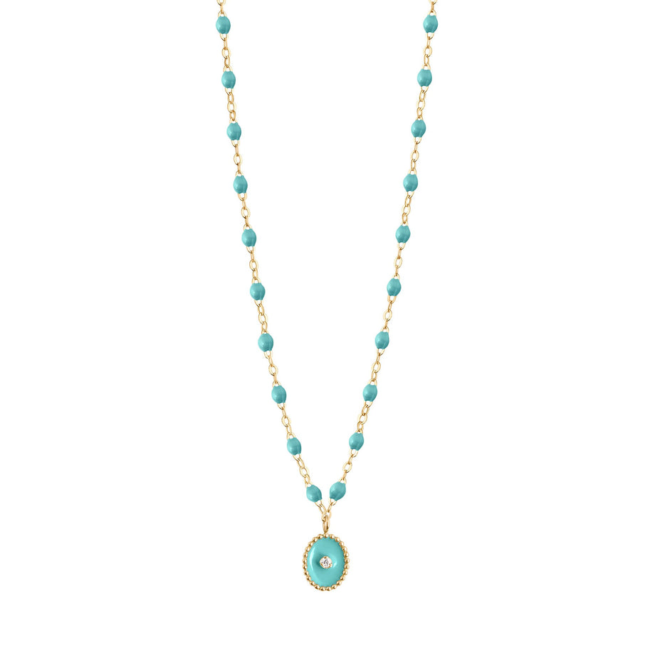 Gigi Clozeau - North Star Classic Gigi Turquoise Green diamonds necklace, Yellow Gold, 16.5