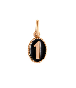 Gigi Clozeau - Number 1 Black pendant, Rose Gold