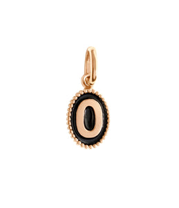 Gigi Clozeau - Number 0 Black pendant, Rose Gold