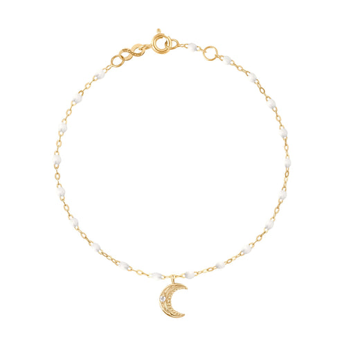 Gigi Clozeau - Petite Moon Classic Gigi White diamonds bracelet, Yellow Gold, 6.7