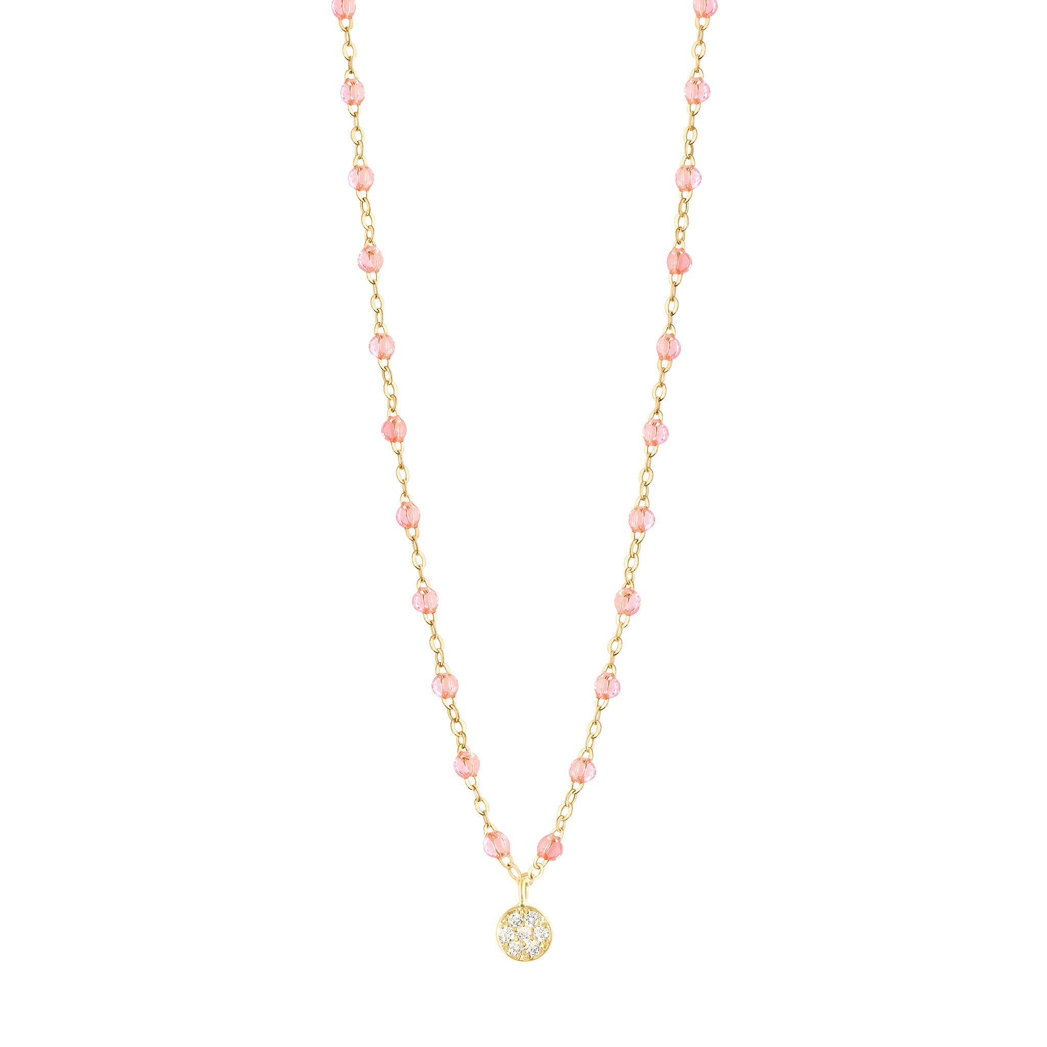 Gigi Clozeau - Puce Classic Gigi Rosée diamonds necklace, Yellow Gold, 16.5""