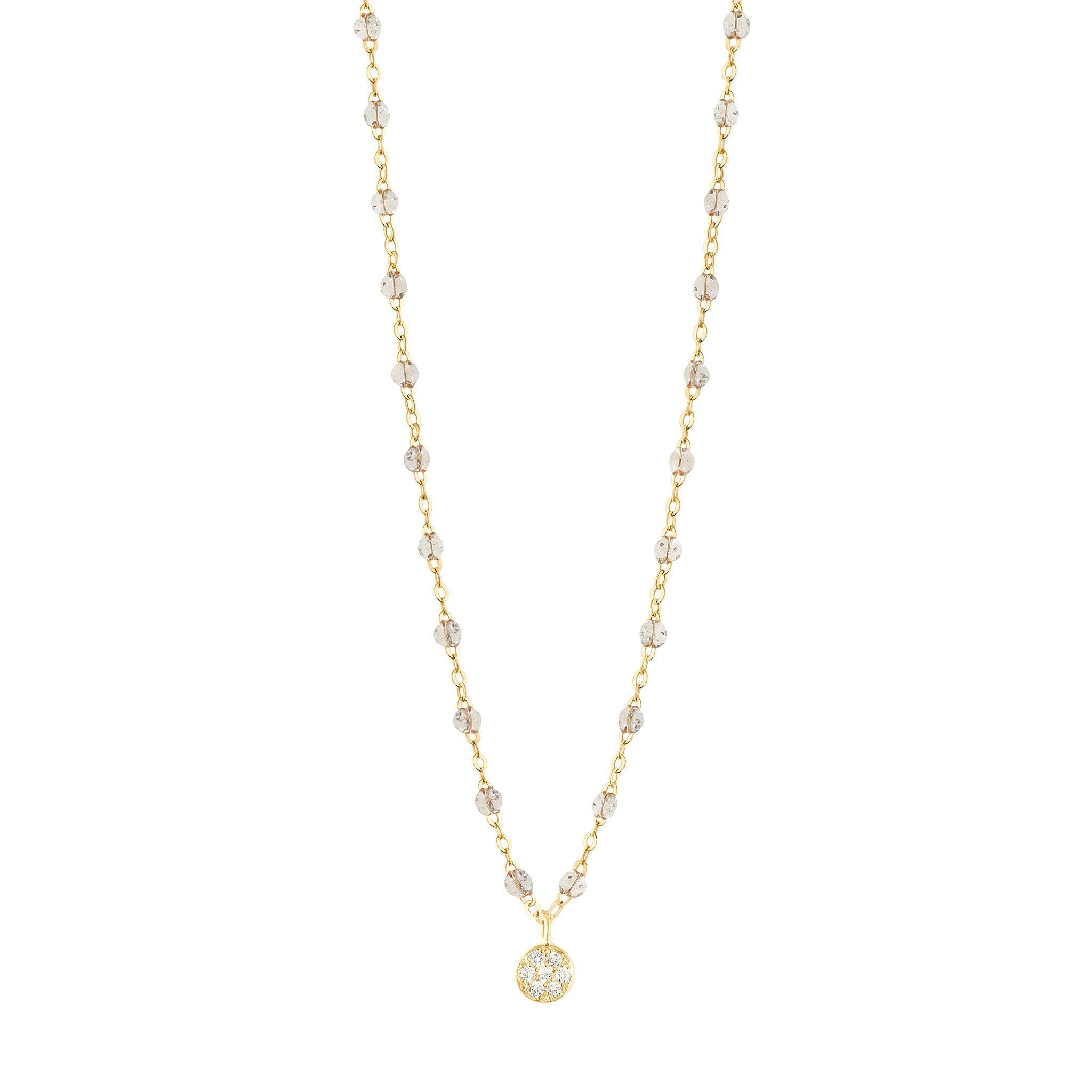 Gigi Clozeau - Puce Classic Gigi Sparkle diamonds necklace, Yellow Gold, 16.5