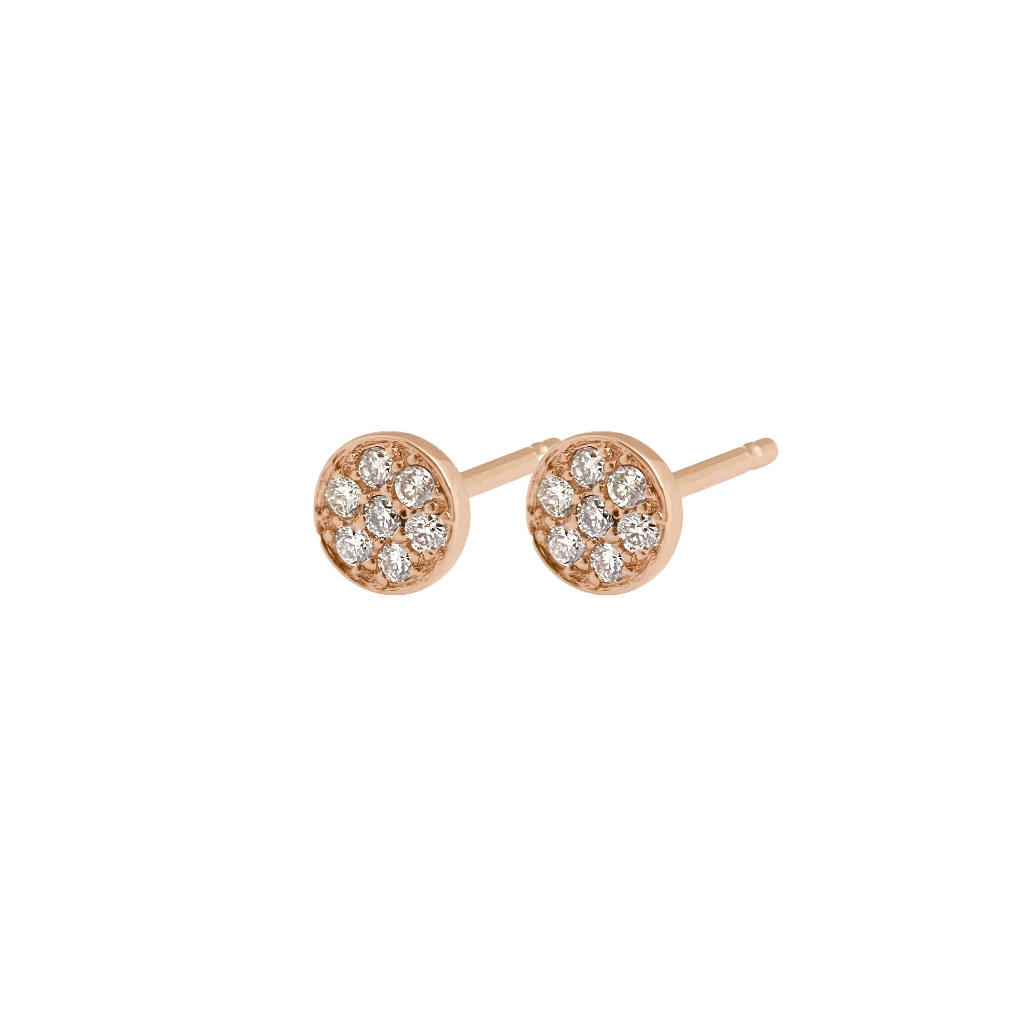 Gigi Clozeau - Puce diamonds earrings, Rose Gold