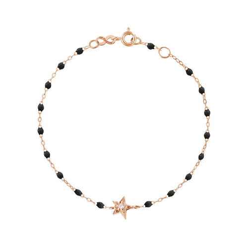 Gigi Clozeau - Star Classic Gigi Black diamonds bracelet, Rose Gold, 6.7