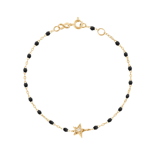 Gigi Clozeau - Star Classic Gigi Black diamonds bracelet, Yellow Gold, 6.7