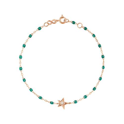 Gigi Clozeau - Star Classic Gigi Emerald diamonds bracelet, Rose Gold, 6.7
