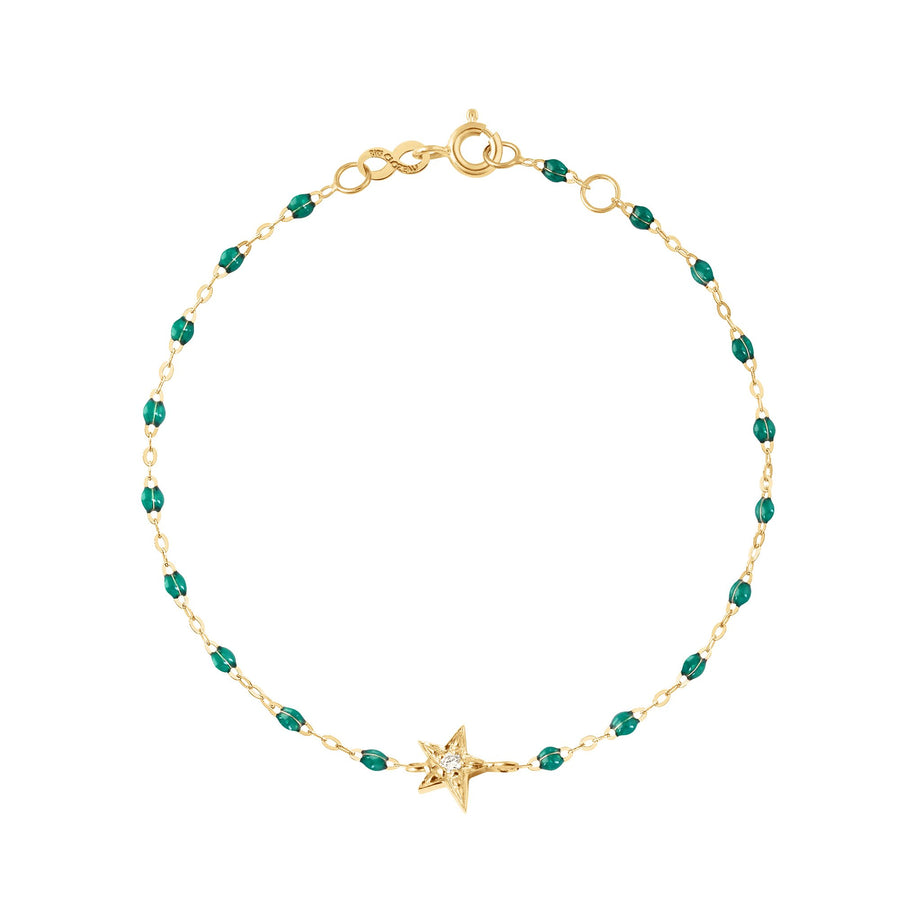 Gigi Clozeau - Star Classic Gigi Emerald diamonds bracelet, Yellow Gold, 6.7
