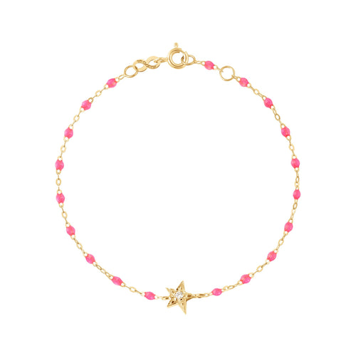 Gigi Clozeau - Star Classic Gigi Pink diamonds bracelet, Yellow Gold, 6.7