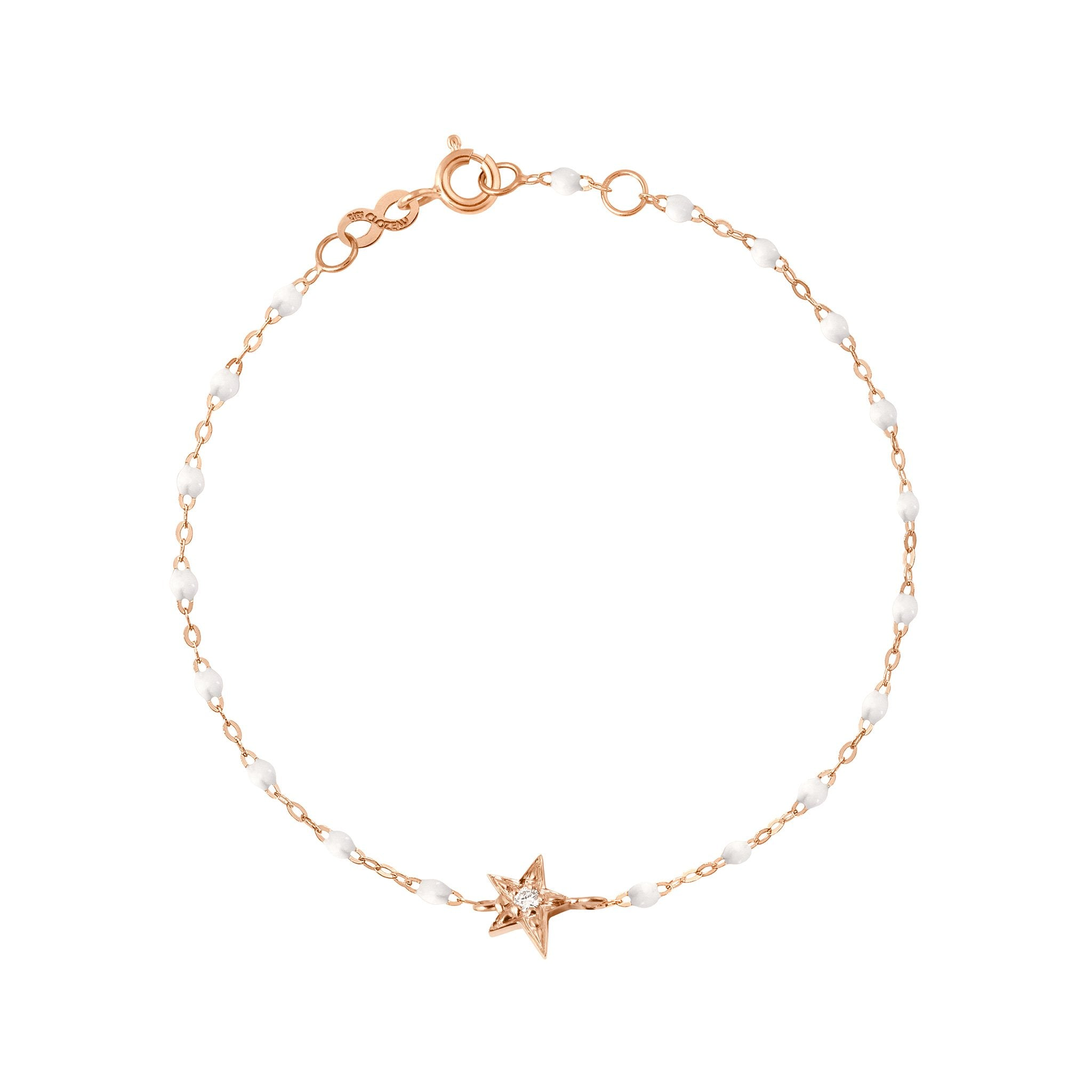 Gigi Clozeau - Star Classic Gigi White diamonds bracelet, Rose Gold, 6.7""