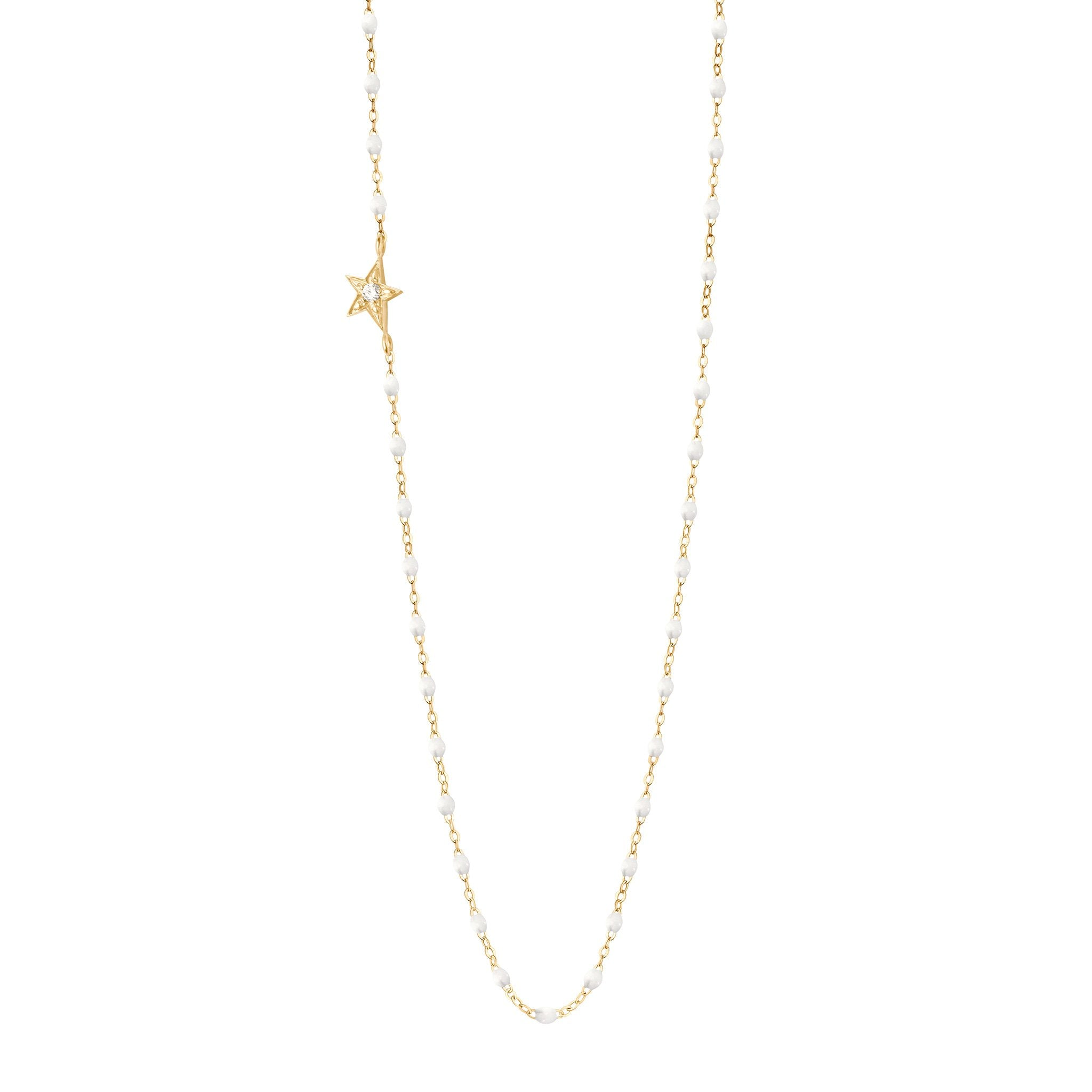 Gigi Clozeau - Star Classic Gigi White diamond necklace, Yellow Gold, 16.5""