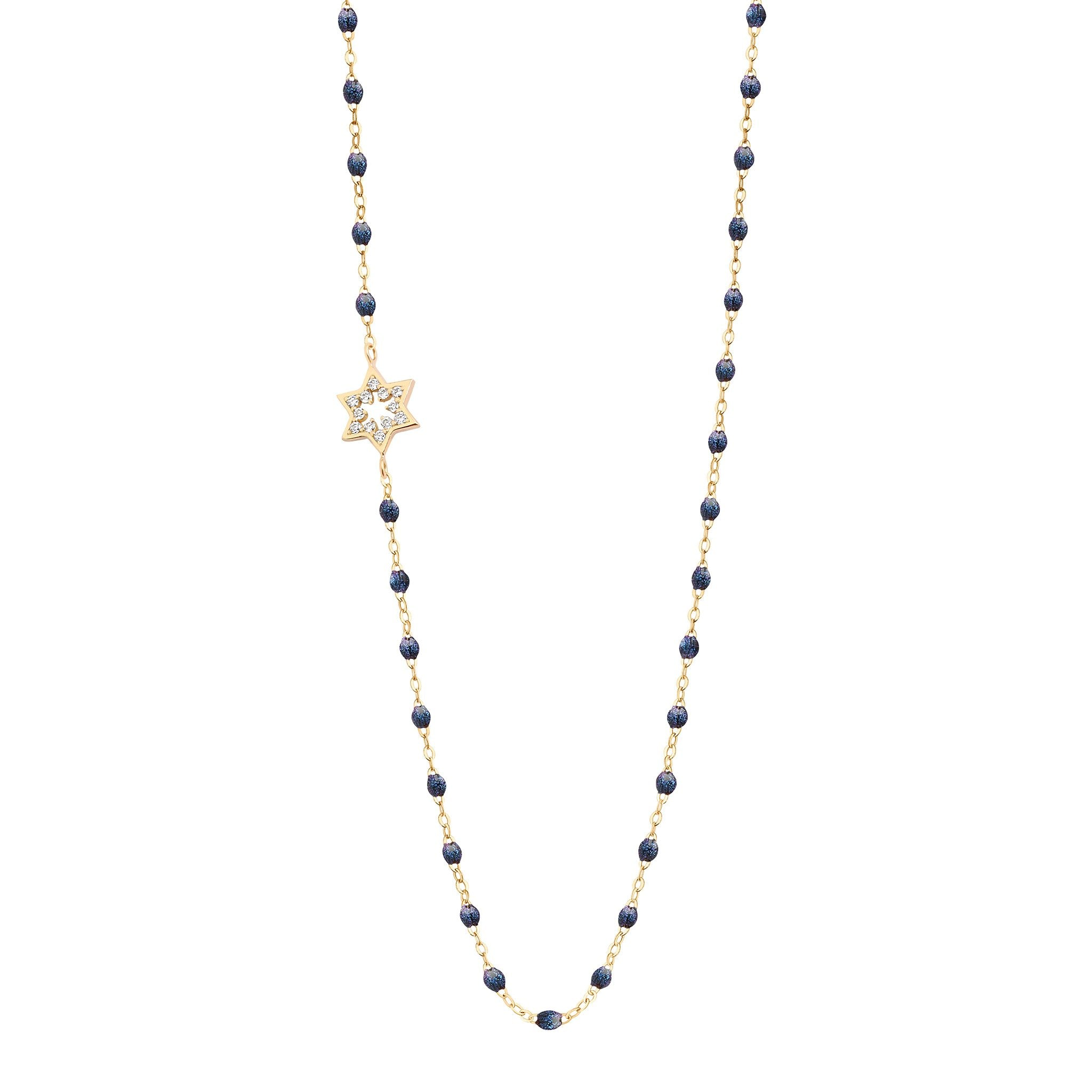 Gigi Clozeau - Star of David Classic Gigi Midnight diamond necklace, Yellow Gold, 16.5""