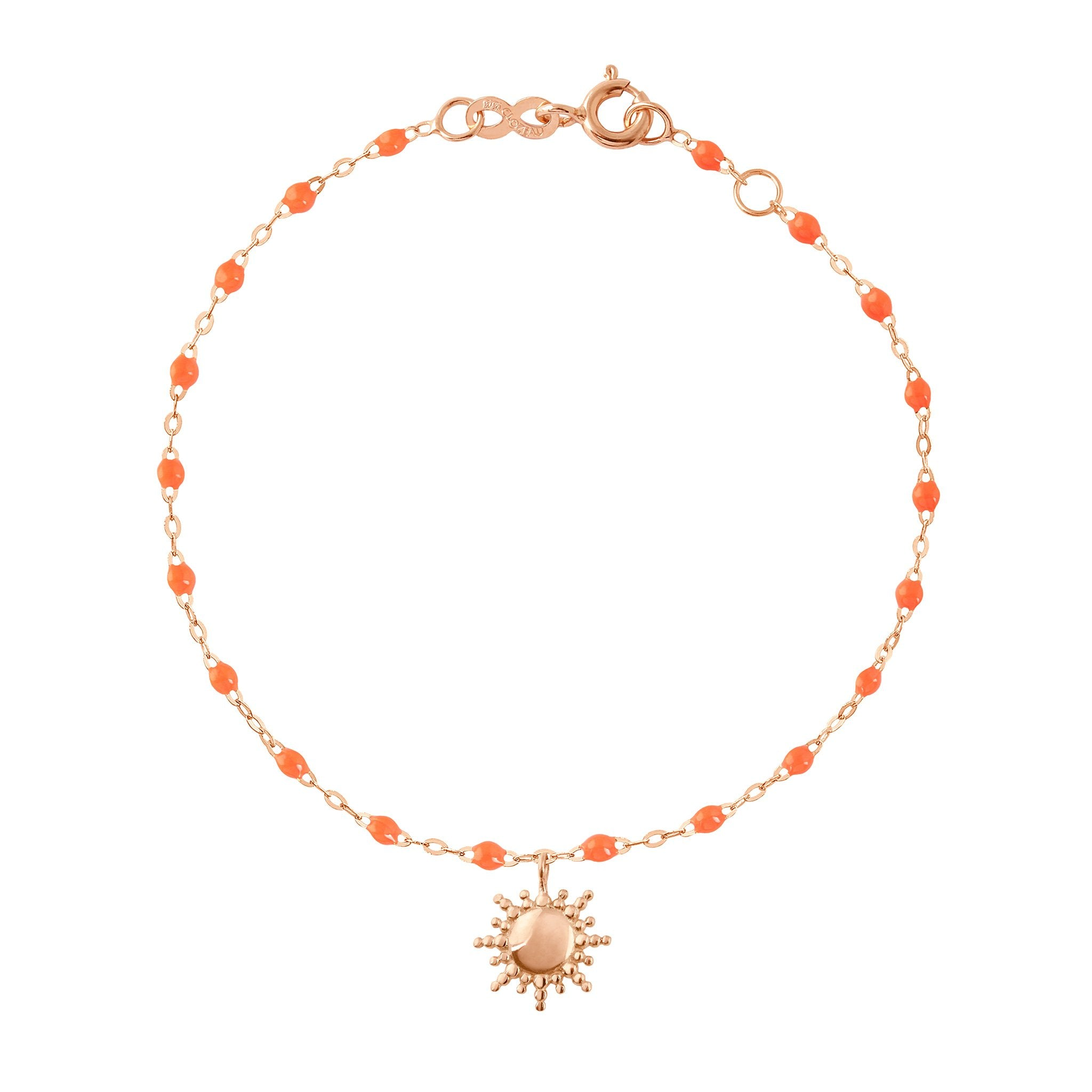 Gigi Clozeau - Sun Classic Gigi Orange bracelet, Rose Gold, 6.7""
