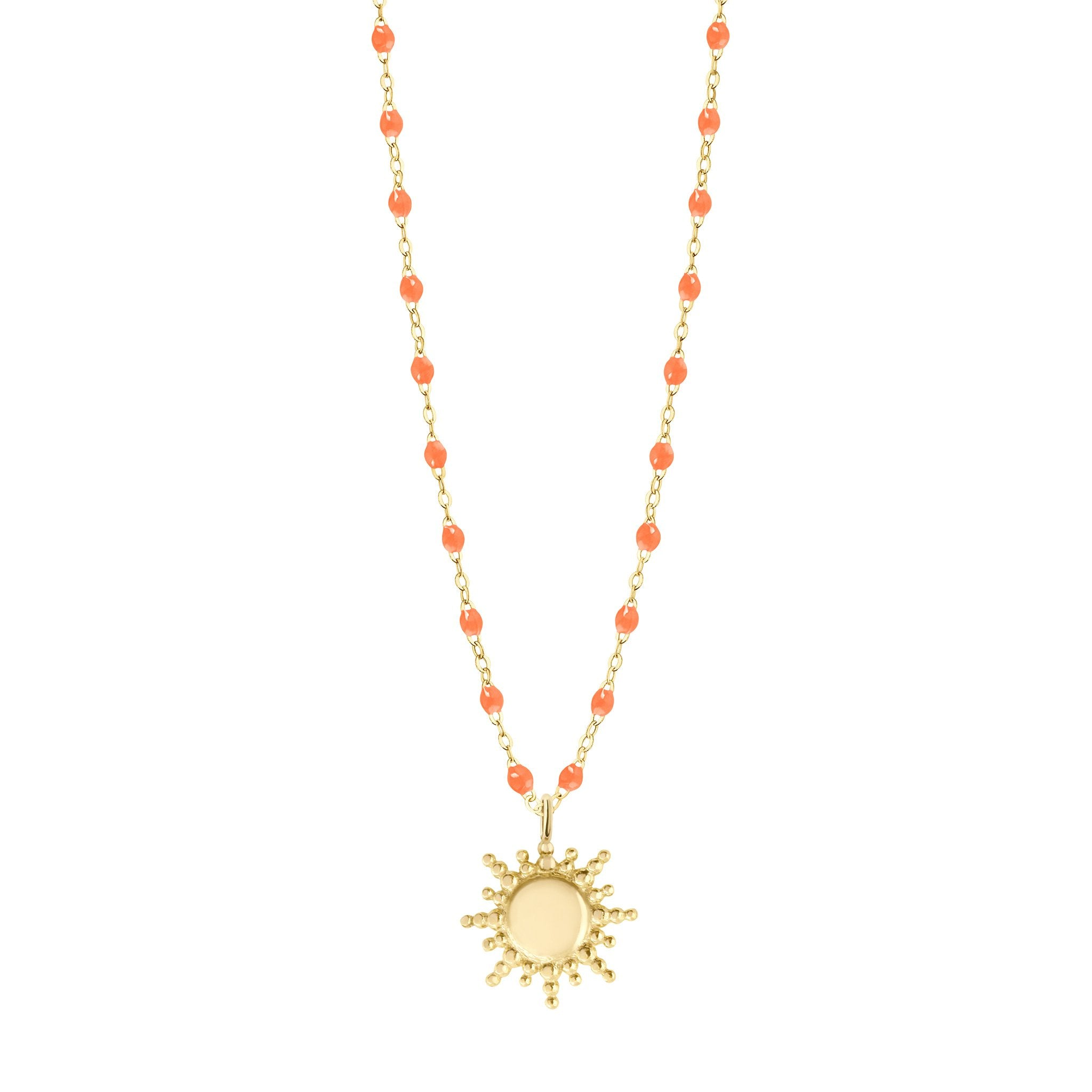 Gigi Clozeau - Sun Classic Gigi Orange necklace, Yellow Gold, 16.5""