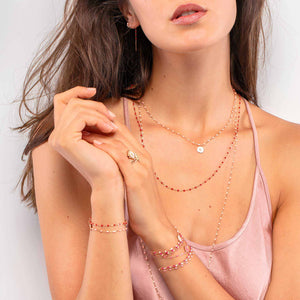Gigi Clozeau - Classic Gigi Poppy necklace, Rose Gold, 19.7""