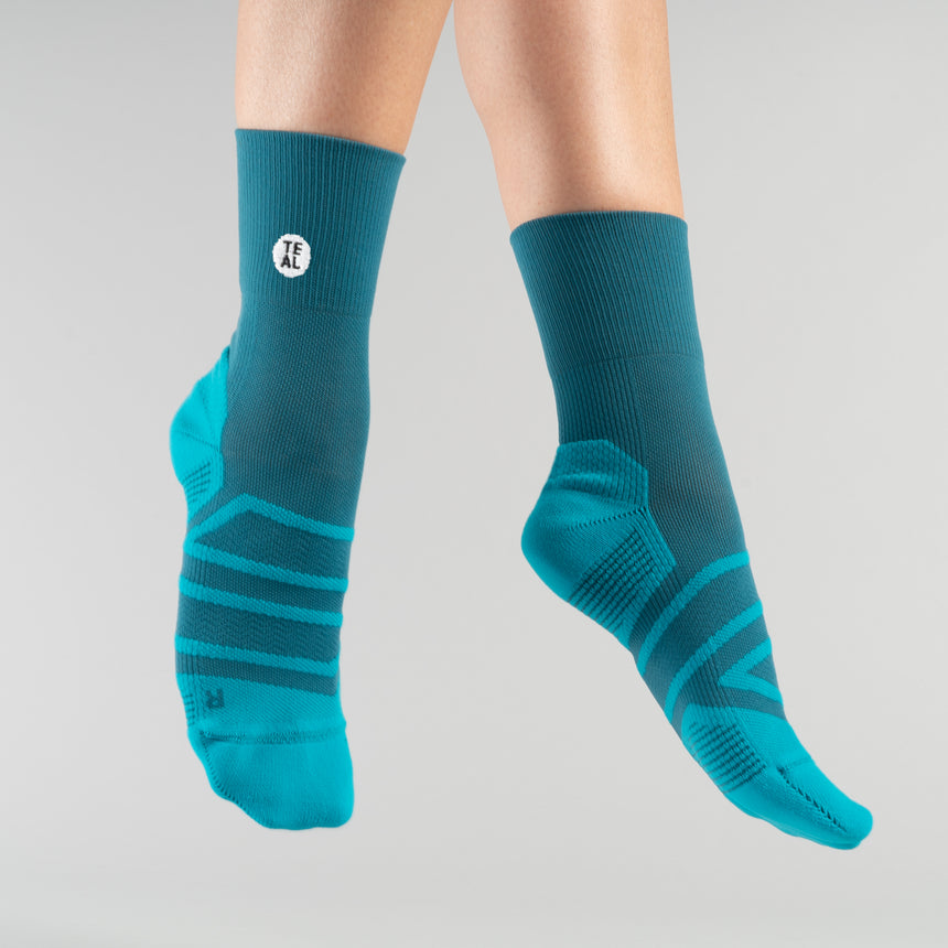 Perfomance Sock Mid: Teal/Carribean