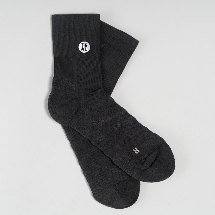 Performance Sock Mid: Black/Black