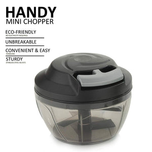 741 Mini Pull Chopper 450ml Handy Plastic Chopper with Triple SS Blade