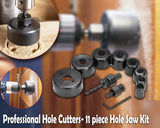 428 Wood Hole Saw Cutting Set (11 pcs, 19-64mm, Multicolour)