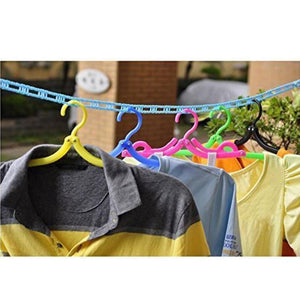 190 Clothesline Drying Nylon Rope with Hooks