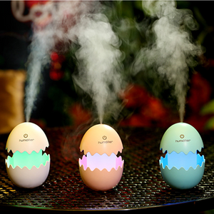 393 Funny USB Mini Egg humidiier with Colorful Night Light egg tumbler Aroma Diffuser for Car Home Office Mist Maker egg air purifier LED Light