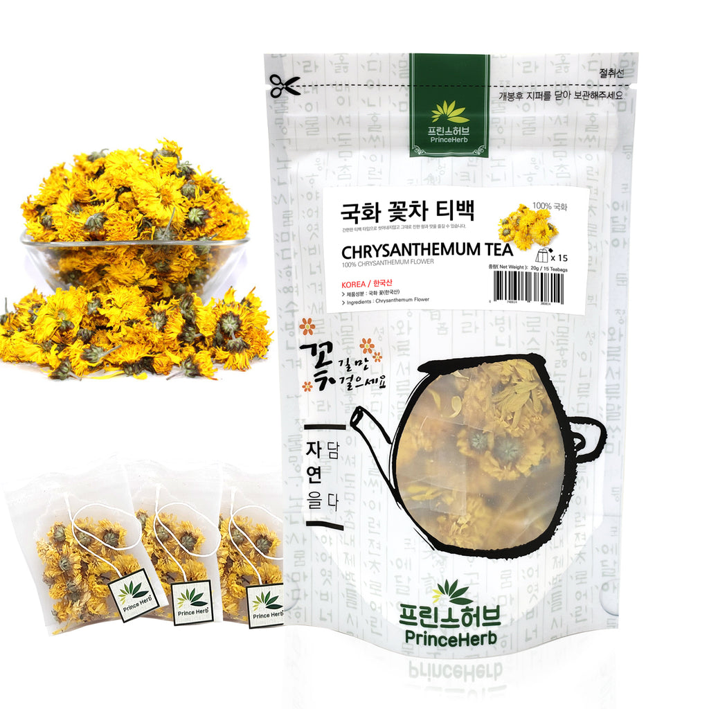 Chrysanthemum Blooming Teabag Tea | [한국산] 국화 꽃 티백
