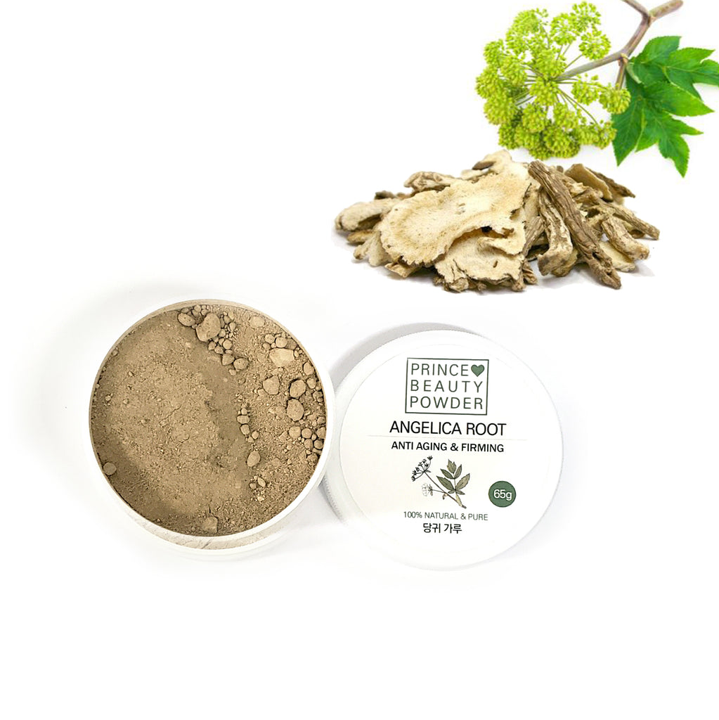 Prince Natural Beauty ANGELICA ROOT Powder For Facial Mask | [한국산] 프린스 천연 미용 당귀 마사지 팩 가루