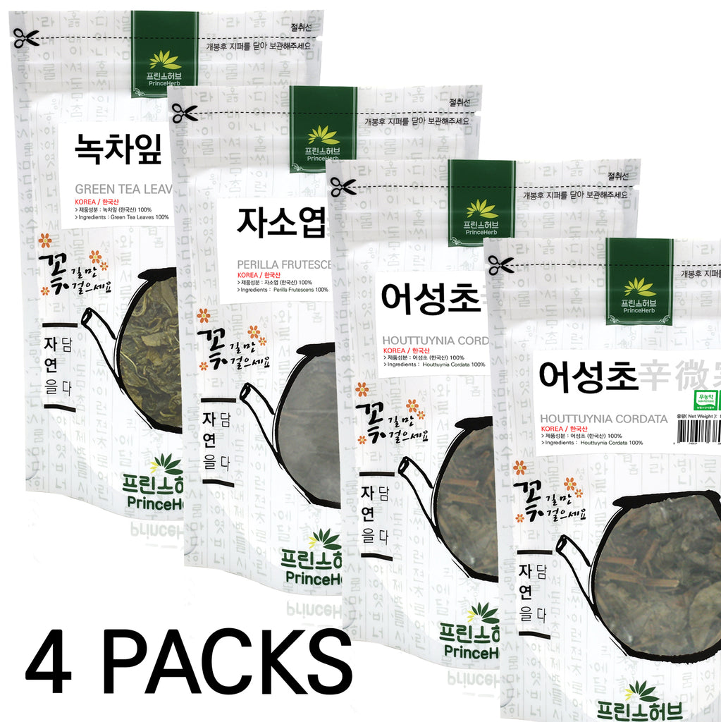 HAIR RESTORATION BULK TEA SET  (Houttuynia Cordata, Perilla Frutescens, Green Tea) | [한국산] 발모차 세트 (어성초, 자소엽, 녹차)