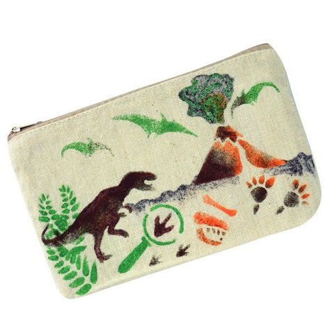 Design Your Own Dino Stencil Pencil Case