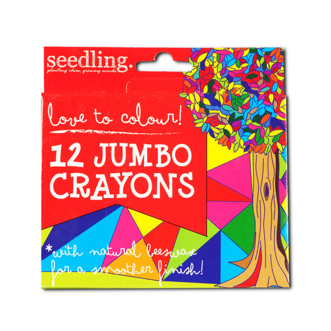Love to colours!12 Jumbo Sized Crayons with Natural Beeswax