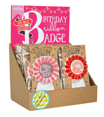 Birthday Ribbon Badge – Girl – The Best Day Ever