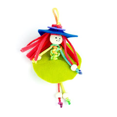 Wooden Bead Keychain Dolls