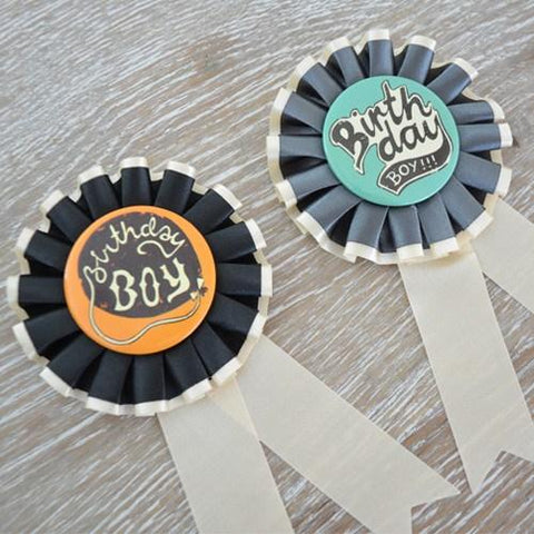Birthday Ribbon Badge - Boy - The Best Day Ever