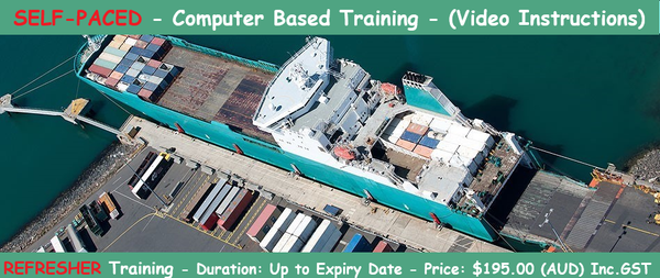 Dangerous Goods by Sea - Self Paced Online Training - REFRESHER