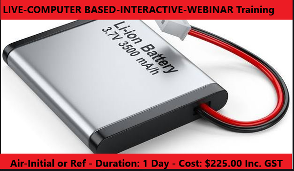 LITHIUM BATTERIES - DG by Air - WEBINAR