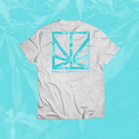 MERRY JANE Logo White / Blue T-Shirt