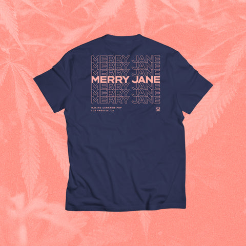 MERRY JANE Stacked Purple T-Shirt