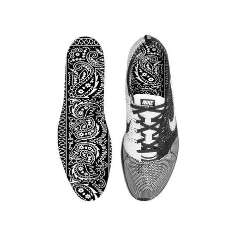 Black Bandana Paisley Custom Insoles